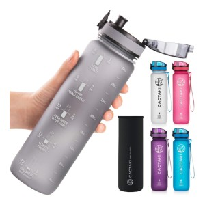 Cactaki 32oz Water Bottle with Time Marker - Best Water Bottle with Time Marker: Ideal Gift for Fitness Lovers