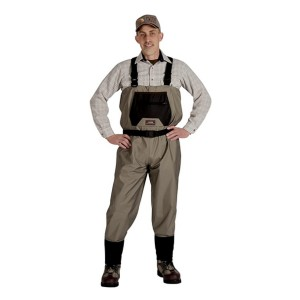 Caddis Wading Systems Men's Taupe Breathable Stocking Foot Wader  - Best Saltwater Waders:  It lets your skin breathe