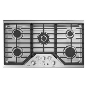 CAFE CGP9536SLSS 36 Inch Natural Gas Cooktop - Best Professional Cooktops: Fits multiple large cookware