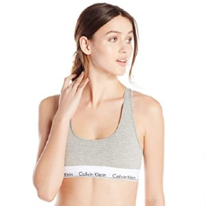 Calvin Klein Modern Cotton Bralette - Best Sport Bra for Small Chest: Comfortable Unpadded Sports Bra