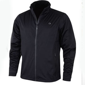 Calvin Klein Store Waterproof Stretch Funnel Neck Full Zip Jacket - Best Raincoats for Golf: Raincoat jacket with inherent stretch of the fabric