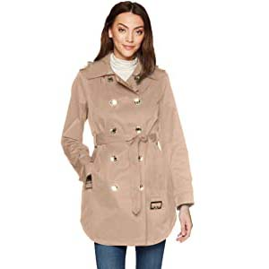 Calvin Klein Women's Double Breasted Trench Rain Jacket - Best Raincoats with a Suit: Incredibly enchanting