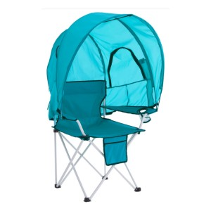 BrylaneHome Camp Chair with Canopy - Best Folding Chair with Canopy: Biggest load, lightest