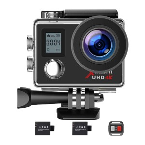 Campark 4K WiFi Ultra HD Camera - Best GoPro for Motorcycle: Wireless Remote Control