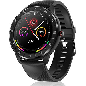 CanMixs CM13 Smartwatch Activity Tracker  - Best Fitness Trackers: Full Touch Screen Smart Watch