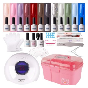 Candy Lover Gel Nail Polish Kit with 36W Lamp - Best Gel Nail Kit with UV Light on Amazon: Quick-Drying Nail Polish Kit