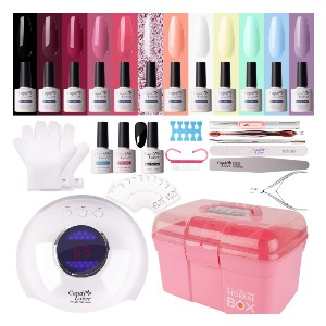 Candy Lover Gel Nail Polish Kit with 36W Lamp - Best Nail Kit on Amazon: Nail Polish Kit with Storage Box