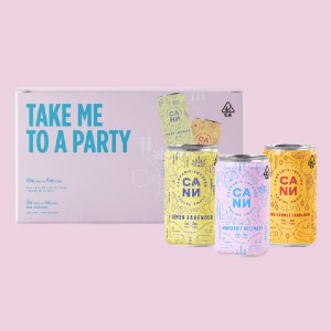 Cann THE PARTY PACK (24PK) - Best CBD Drinks for Relaxation: Refreshing Distinct Flavor Drink