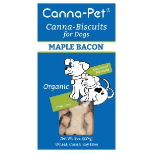 Canna-Pet Biscuits for Dogs: Advanced Formula Maple Bacon  - Best CBD Treats for Dogs with Arthritis: Perfect Bite-Sized Biscuits