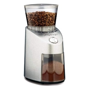 Capresso Infinity Stainless Steel Conical Burr Grinder  - Best Quiet Coffee Grinder: Grinder with 16 Settings