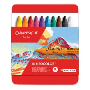 Caran d'Ache Neocolor I Wax Pastels and Sets - Best Crayons for Artists: Water-Resistant Crayons
