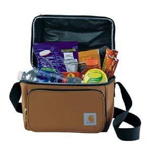 Carhartt Deluxe Dual Compartment Insulated Lunch Cooler Bag - Best Lunch Cooler for Construction Workers: Enough for 6-pack