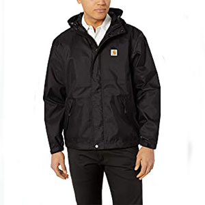 Carhartt Store Work Utility Outerwear - Best Raincoats for Work: Raincoat with zipper closure