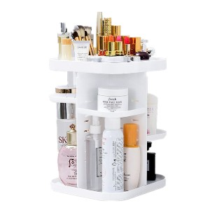 Caroeas Makeup Vanity Organizer - Best Makeup Storage: 360-Degree Storage