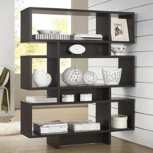 Shopango Cassidy Bookshelve & Display 6-Tier - Best Bookshelves for Home Library: Inject A Boost of Dazzling Contemporary Interior Fashion