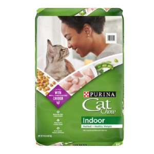 Cat Chow Indoor Hairball & Healthy Weight Dry Cat Food - Best Food for Cat to Gain Weight: Vitamin A and B3 Formulation