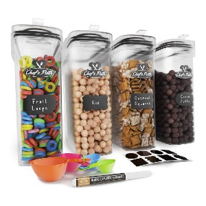 Chef's Path Cereal Container Storage Set - Best Storage Containers for Kitchen: Space saving design