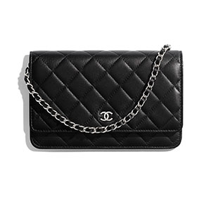 Chanel Classic Wallet on Chain - Best Wallet for Women: Little wallet bag with chain