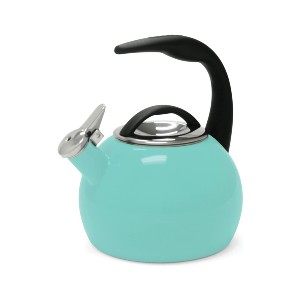 Chantal Enamel on Steel Whistling Tea Kettle - Best Tea Kettle for Gas Stove: Kettle with Simple Flip-Up Whistle Cap
