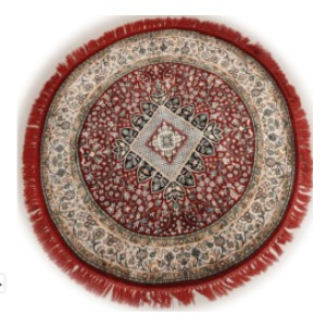 The Rugs Cafe Charbagh (Four Gardens) Round Red - Best Rug for Entryway: Best premium pick