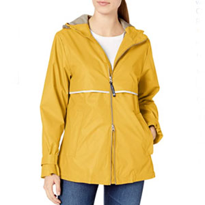 Charles River Apparel New Englander Wind & Waterproof Rain Jacket - Best Raincoats for Hot Weather: Rain jacket with reflective strips