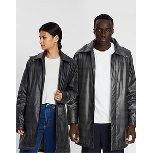 RAINS Check Mac Coat - Best Raincoats Under 1000: Stand-up Collar and Long Sleeves