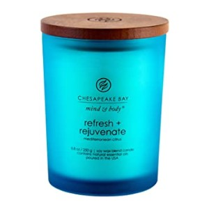 Chesapeake Bay Candle Refresh + Rejuvenate (Mediterranean Citrus) - Best Scented Candles: Up to 50 hours of burn time