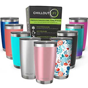 Chillout Life Tumbler with Splash Proof Sliding Lid - Best Tumbler for Cold Drinks: Maintains the freshness