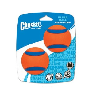 Chuckit! Ultra Rubber Ball Tough Dog Toy - Best Dog Toys for Small Dogs: High-Bouncing Rubber Ball