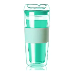Cicike Glass Tumbler with Silicone Sleeve - Best Tumbler for Iced Coffee: Elegant glass tumbler