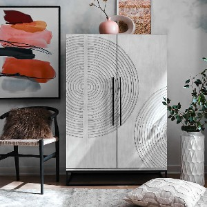Crate & Barrel Circulus Cabinet - Best Wardrobe for Small Bedroom: Circle Design Is Unique To Each Piece