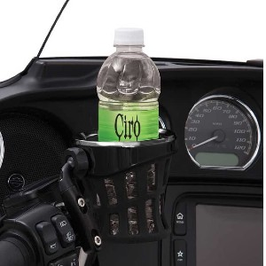 Ciro Black Rubber Drink Holder for Harley - Best Motorcycle Drink Holders: Quick Detach with The CIRO Ball Mounting System