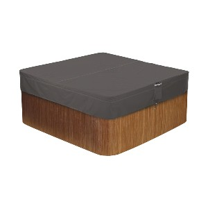Classic Accessories Ravenna Water-Resistant 94 Inch Square Hot Tub Cover - Best Hot Tub Cover: Cover with Padded Handles