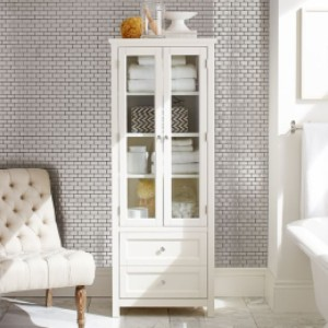 Pottery Barn Classic Linen Closet - Best Wardrobe for Small Bedroom: Leg Levelers Ensure Stability On Uneven Floors