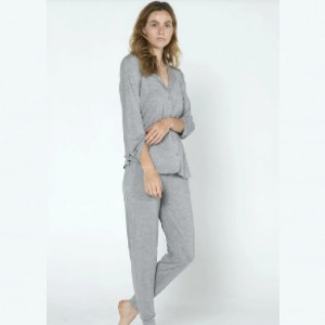 Recliner Classic PJ Set - Brushed Grey - Best Pajamas for Hot Sleepers: Regulate your body temperature