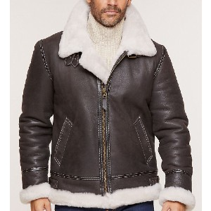 Overland Classic Sheepskin B-3  - Best Coats for Men: Two Hand-Warming Pockets