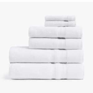 Parachute Classic Towels - Best Bath Towels Quick Dry: Feature a Ribbed Dobby Design for a Clean and Modern Look