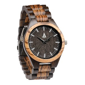 Treehut Classic Zebrawood Ebony Theo - Best Watch Gift for Boyfriend: A blend of modern and natural