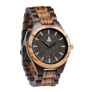 Treehut Classic Zebrawood Ebony Theo - Best Wooden Watches Under $100: A blend of modern and natural