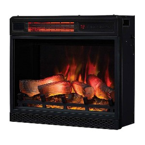ClassicFlame 23-in 3D Spectrafire Plus Infrared Electric Fireplace Insert  - Best Electric Fireplace for Bedroom: Incredible safety features