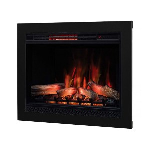 ClassicFlame 33-In 3D SpectraFire Plus Infrared Electric Insert - Best Electric Fireplace for Basement: Best all year round pick