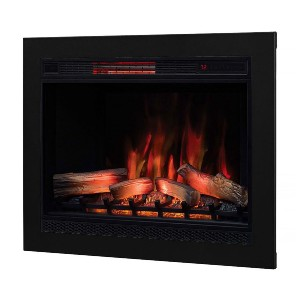 ClassicFlame 33-In 3D SpectraFire Plus Infrared Electric Insert - Best Electric Fireplace for Large Room: Creates the right ambiance