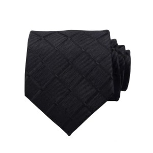 Classy Men Collection Classy Men Black Carbon Silk Necktie - Best Ties for Lawyers: Best for any suits and shirts
