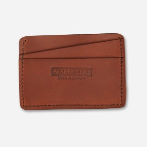Parker Clay Clayton Card Wallet - Best Card Holders for Men: Crafted from Premium Ethiopian Full-Grain Leather
