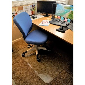 Clearly Innovative Glass Chair Mat with Exclusive Beveled Edge - Best Glass Chair Mats: Heavy-Duty Curved-Edge Glass Mat
