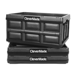 CleverMade 32L Collapsible Storage Bins - Best Storage Containers for Garage: Collapsible container
