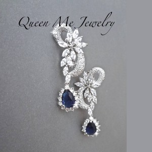 Queen Me Jewelry Clip on Bridal Earring - Best Jewelry for 30th Birthday:  No need for piercing