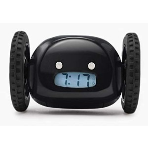 Clocky Alarm Clock on Wheels - Best Alarm Clock for Bedroom: Easy-To-Set Time or Snooze