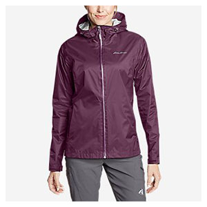 Eddie Bauer Cloud Cap Rain Jacket - Best Raincoats for Petites: Adjustable Hood, Hem and Cuffs