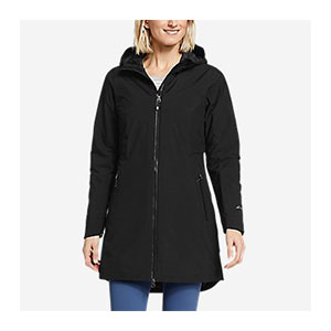 Eddie Bauer Cloud Cap Stretch Insulated Trench Coat - Best Raincoats for Petites: Stretchy and Suitable for All Seasons